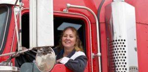 Female Long Haul Truck Driver Photo